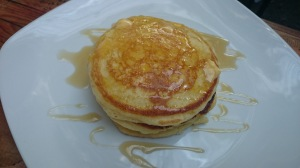 2-layered plain Fluffy Pancakes for 60 pesos.  Tasty!