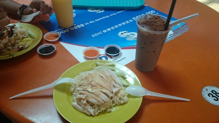 The best Hainanese Chicken Rice with Milo Dinosaur - two must-try popular food in Singapore