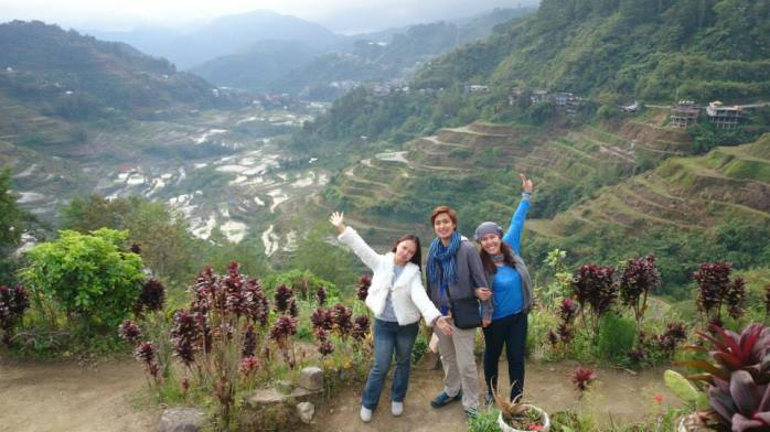 Trio at Banaue Rice Terraces