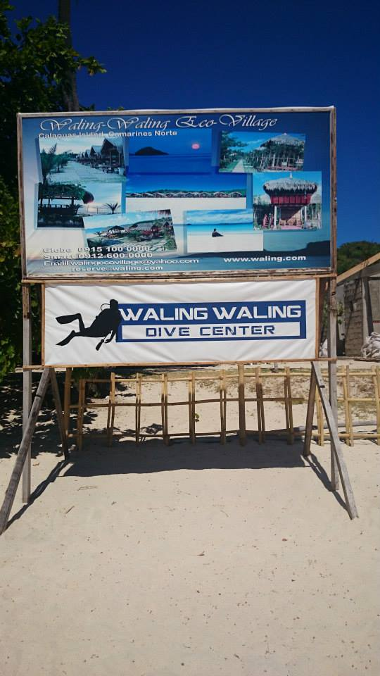 Waling-waling Eco-Village at Calaguas, Camarines Norte - your only option for non-camping accomodation on the island