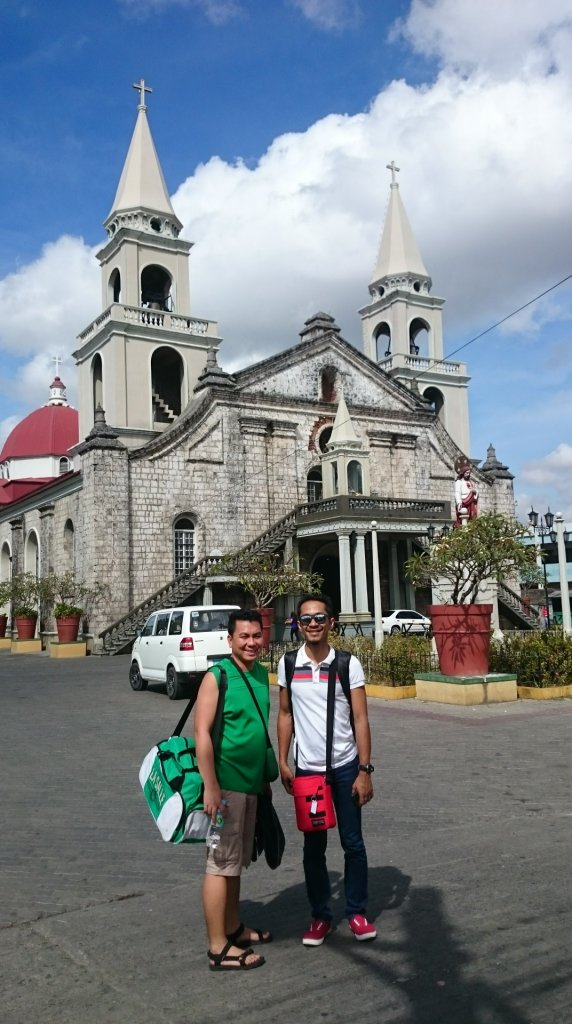 With my best friends Roger and Emer at Catedral de Nuestra Senora de Candelaria, also known as Jaro Church at Jaro, Iloilo City, Iloilo
