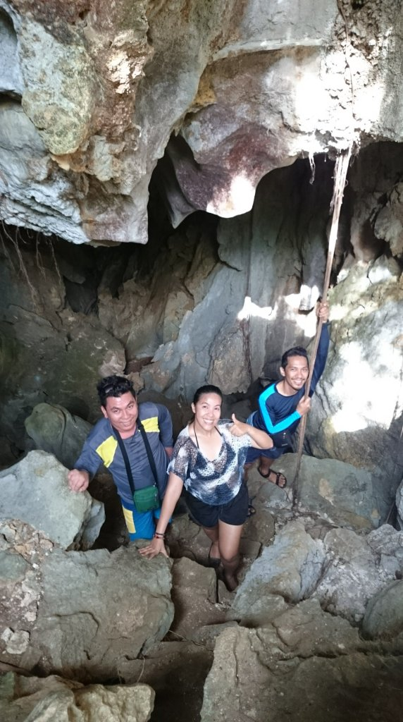 Spelunking with my new travel buddies at Bakwitan Cave, Gigantes Norte Island, Carles, Iloilo