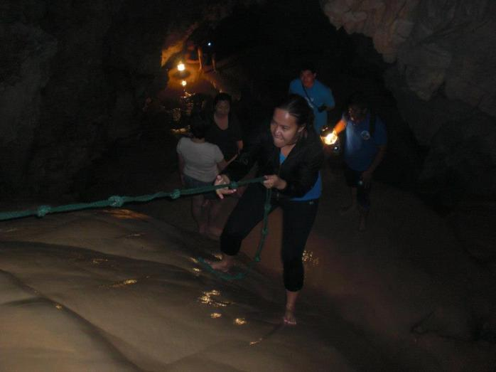 Brushing my rusty rappeling skill at Cave Connection Tour (Lumiang & Sumaguing Cave) at Sagada